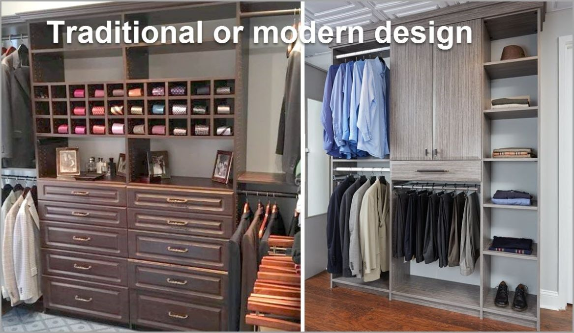 Traditional and Modern Styled Closets
