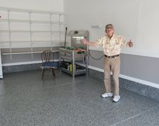 Happiness Is A Dream Garage Floor For A World War II Veteran