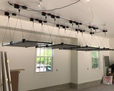 Overhead Storage Racks Expand Garage Storage Space