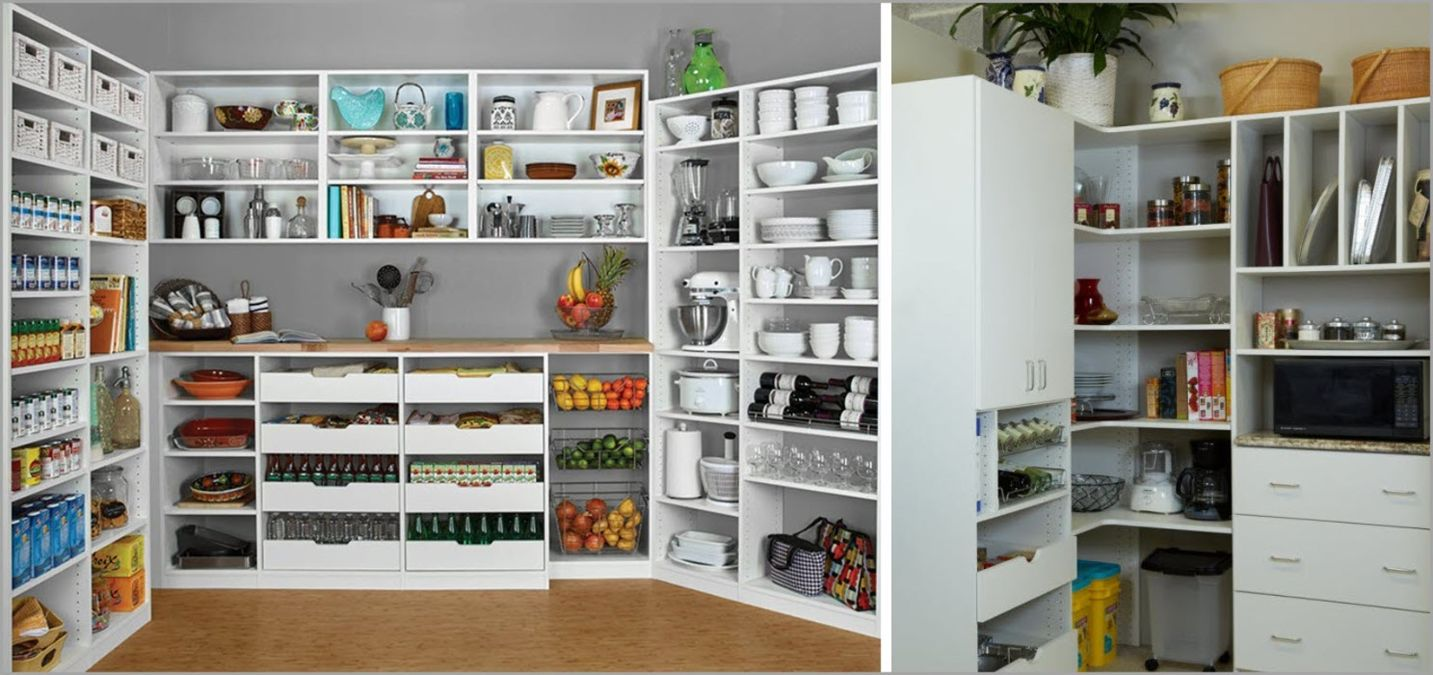 Small and Large Pantry Storage