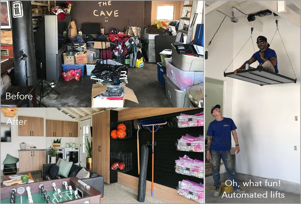 Man Cave Garage with Automated Lifts
