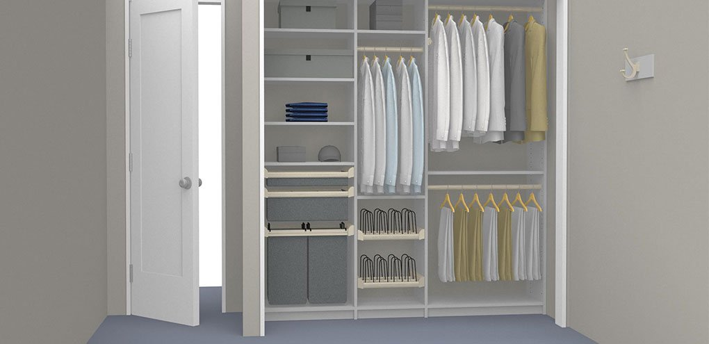 mens reach-in closet rendering