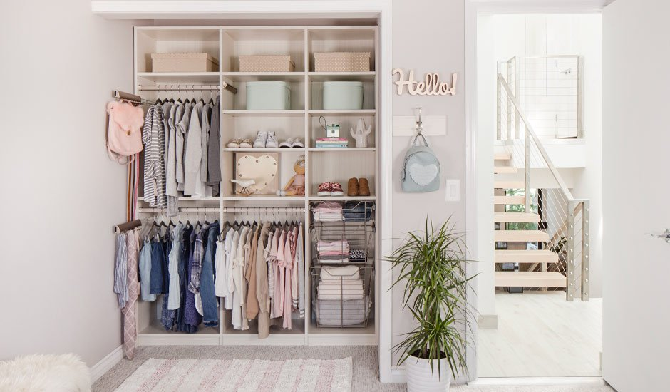 child's girl reach-in closet