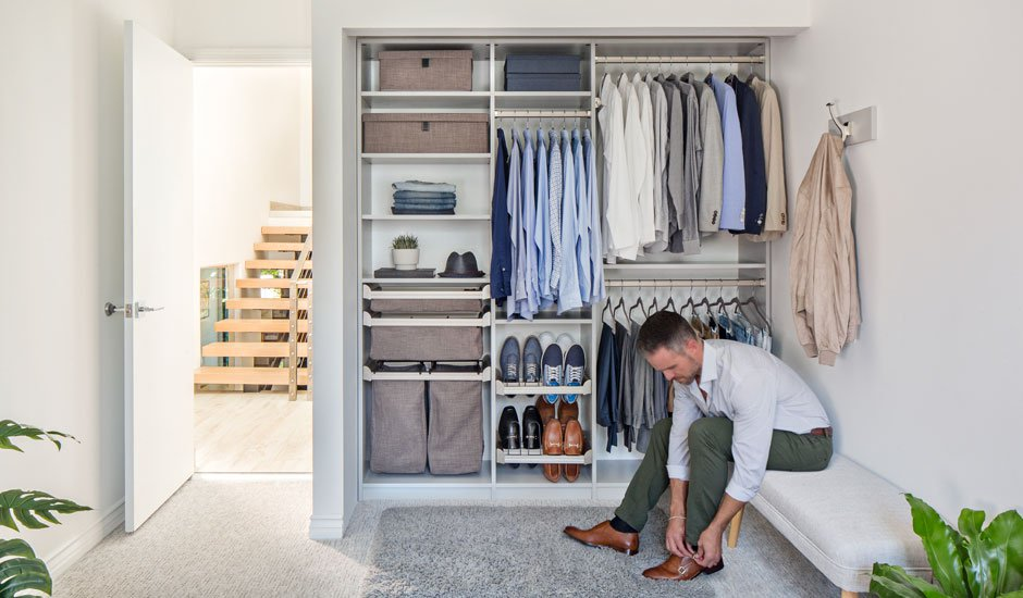 mens reach-in closet