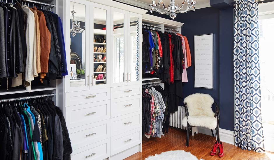 hers white walk-in closet