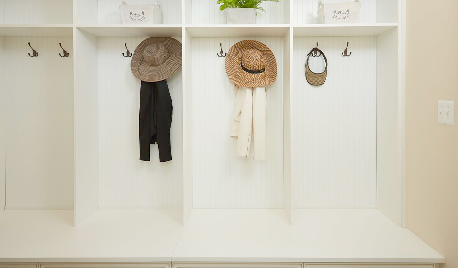 white mudroom
