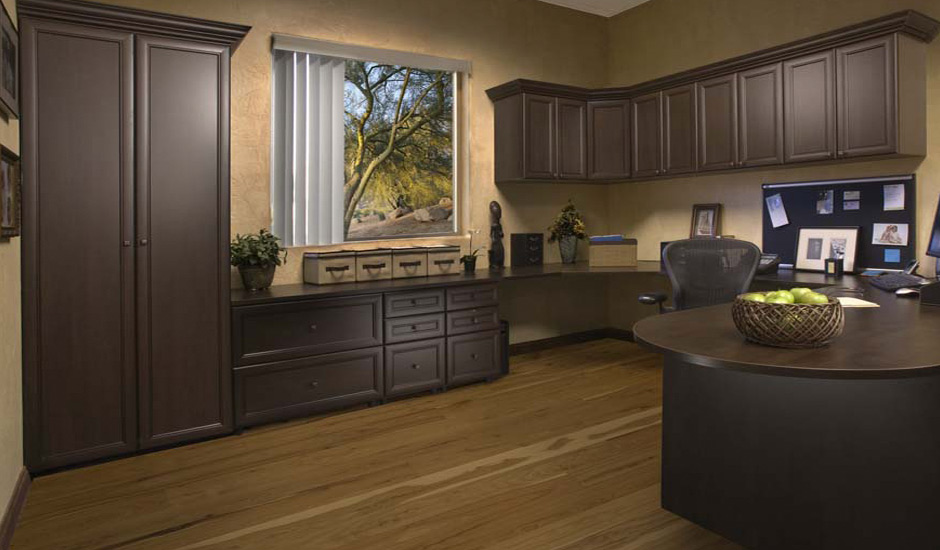 dark brown home office