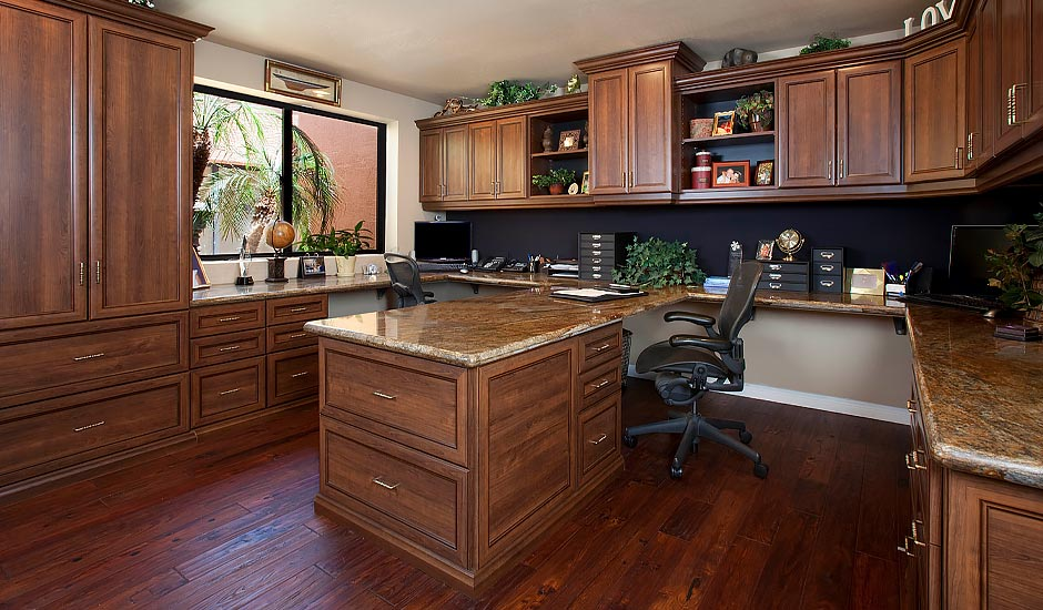 wood home office
