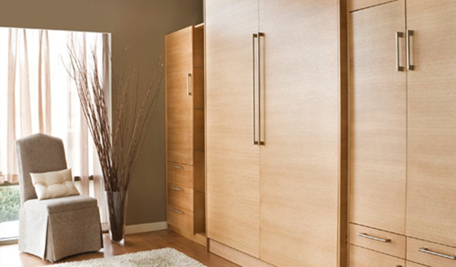 wood murphy bed closed