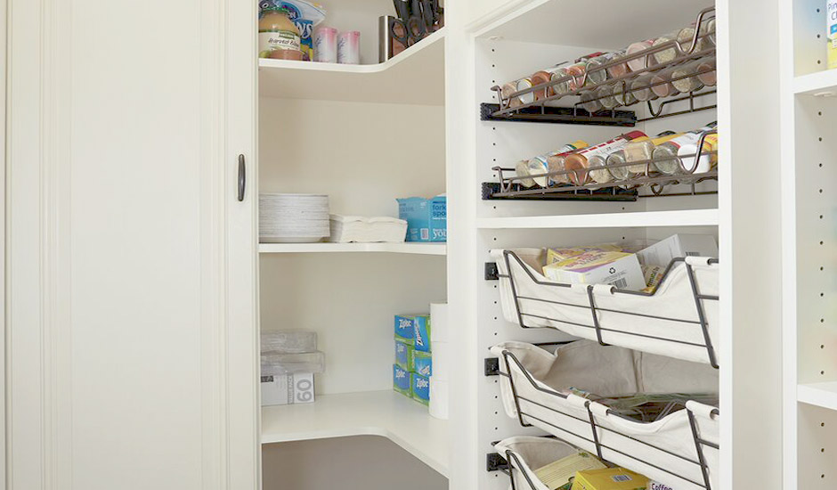 custom pantry spice rack and drawers