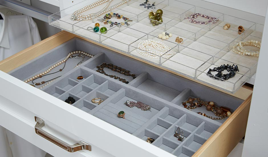 jewelry organizer in closet
