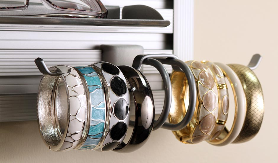 bracelet holder in closet