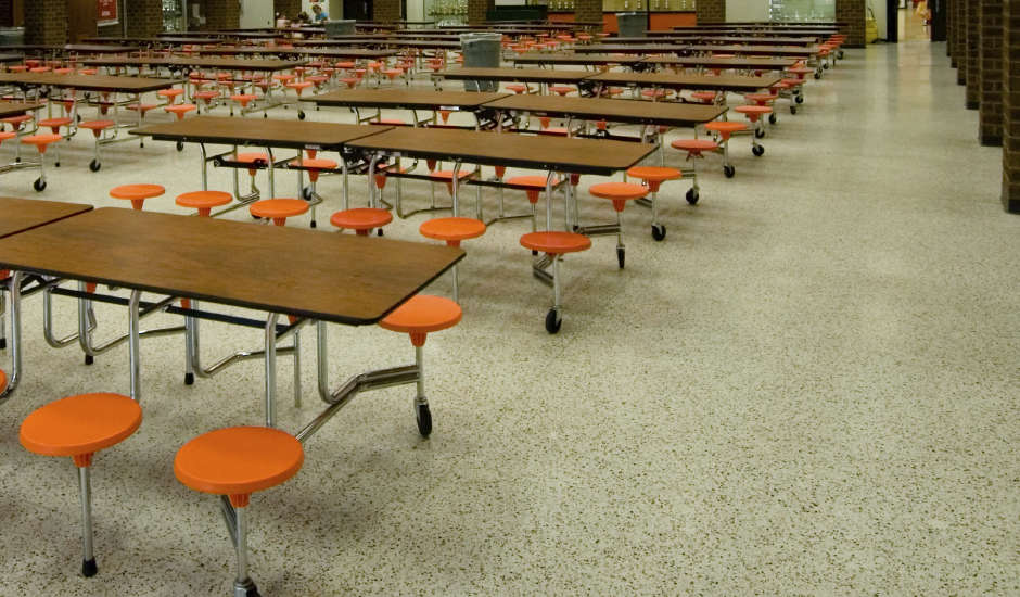 commercial flooring cafeteria education