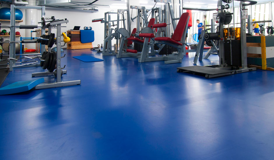 commercial flooring gym