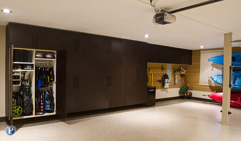 dark brown garage cabinets