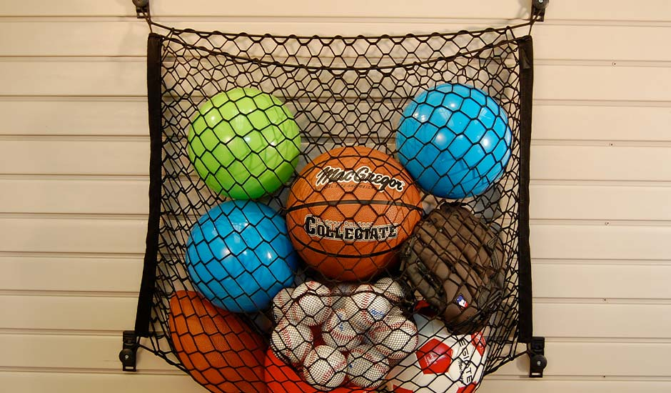 slatwall and mesh sports equipment